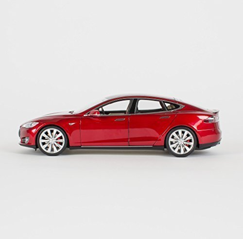 Tesla Motors 1:18 Scale Diecast P85 Model S Red Multi-Coat car (Tesla Model compare prices)