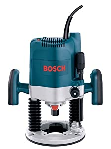 Bosch 1619EVS 15 Amp 3-1/4-Horsepower Variable Speed Plunge Base Router with 1/4-Inch and 1/2-Inch Collets