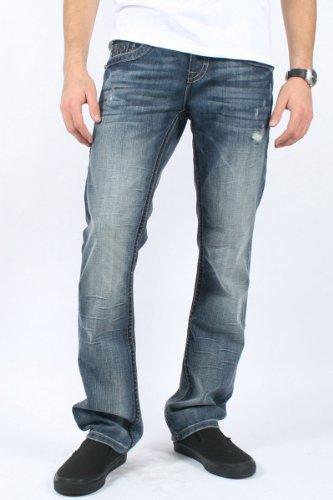 Rock Revival - Mens Chopper Straight Leg Jeans in T11 Denim, Size: 40, Color: Denim