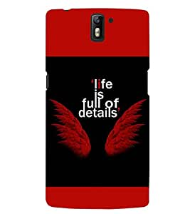 PRINTSWAG LIFE QUOTE Designer Back Cover Case for ONE PLUS ONE