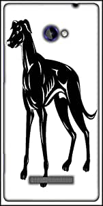 Snoogg Greyhound Dog Retro Designer Protective Back Case Cover For HTC Windows Phone 8S