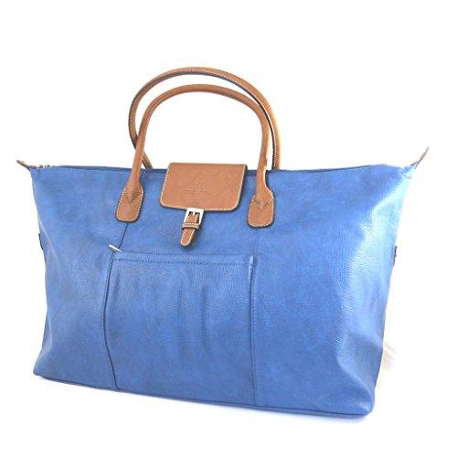 Travel bag 'Hexagona'blu (60x35x20 cm).