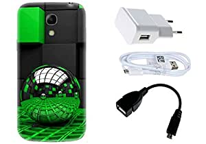 Spygen Samsung Galaxy Mega 6.3 i9200 Case Combo of Premium Quality Designer Printed 3D Lightweight Slim Matte Finish Hard Case Back Cover + Charger Adapter + High Speed Data Cable + Premium Quality OTG
