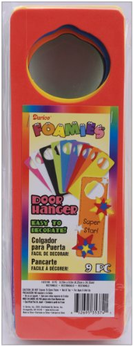 Foam Door Hangers 9/Pkg-Assorted Colors