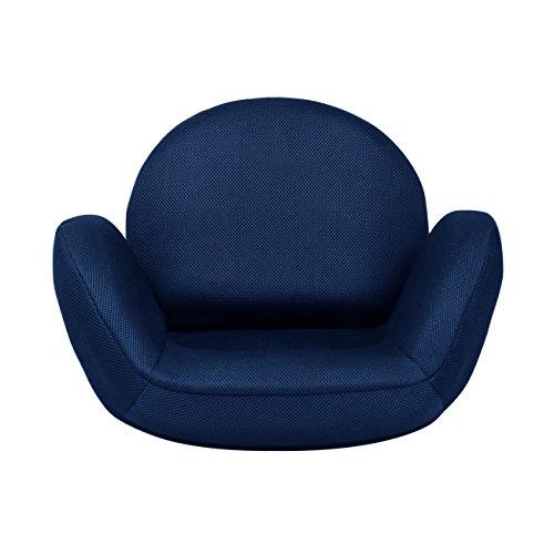 TEGOPO 座椅子 コンパクト メッシュタイプ 6段階調節リクライニング 骨盤 幅55cm*奥44cm*高41cm TZ001-M1 ネイビー色