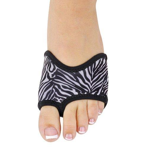 Danshuz Little Girls S Black Zebra Print Neoprene Ballet Half Sole