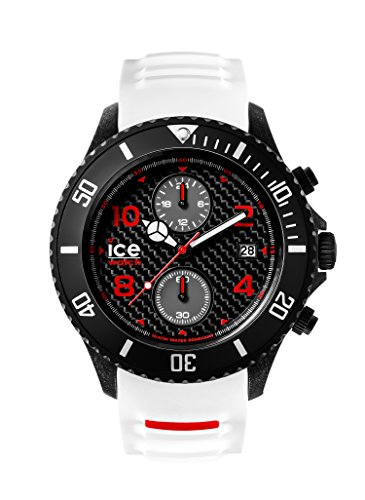 Ice-Watch Herren - Armbanduhr Ice Carbon Analog Quarz Silikon CA.CH.WE.BB.S.15