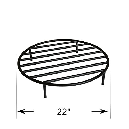 Onlyfire Heavy Duty Round Steel Outdoor Fire Pit Wood Grate with 4 Legs for Campfire Grill Cooking, 22-Inch (Campfire Cooking Stand compare prices)