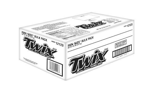 Twix Caramel Fun Size Candy, 20-Pound Bulk Package