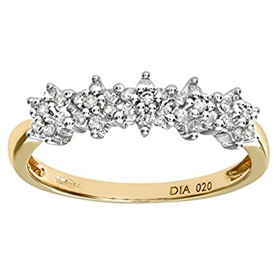 Ariel Women's 9ct 20pts Diamond Eternity Ring