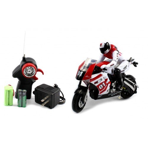 Electric Full Function 1:22 Motor Tracer RTR RC Motorcycle Remote Control (Colors May vary)
