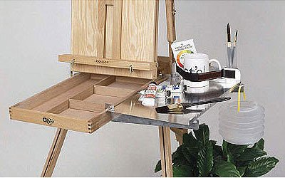 Full French Easel with Left Handed Shelf Help