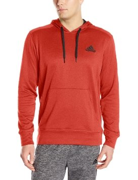 Adidas Performance Men's Go-To Fleece Pullover Hoodie, Large, Scarlet/Black