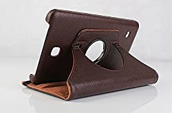 Best Deals - Premium Quality Leather Rotable Flip Stand Cover Case for Samsung Galaxy Tab4 7 inch T230/T231 BROWN