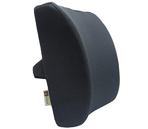 """Love Home Memory Foam 3D Ventilative maglia di sostegno lombare Cuscino Dimensione: 13.4"""" * 12.6"""" * 4"""" (Nero)"""