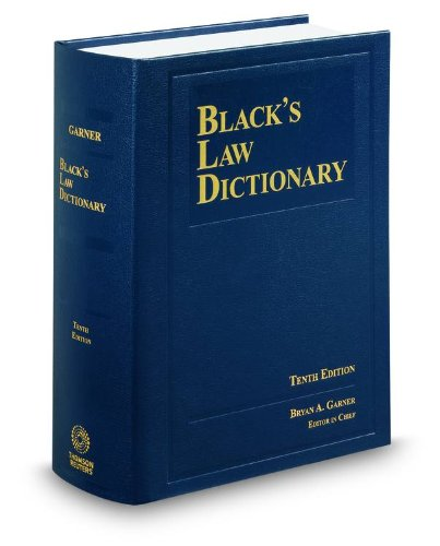 Black's Law Dictionary 10th Edition, Hardcover (Black's Law Dictionary (Standard Edition))