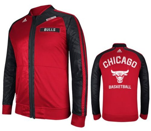 Adidas Chicago Bulls Youth Warm-Up On Court Track Jacket (Youth Large) at Amazon.com