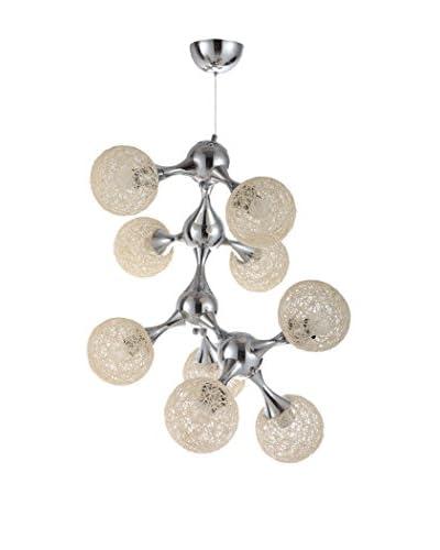 International Designs Atom 9-Light Ceiling Chandelier, Cream