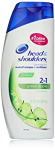 Head & Shoulders Green Apple 2-In-1 Dandruff Shampoo And Conditioner 23.7 Fl Oz (packaging may vary)
