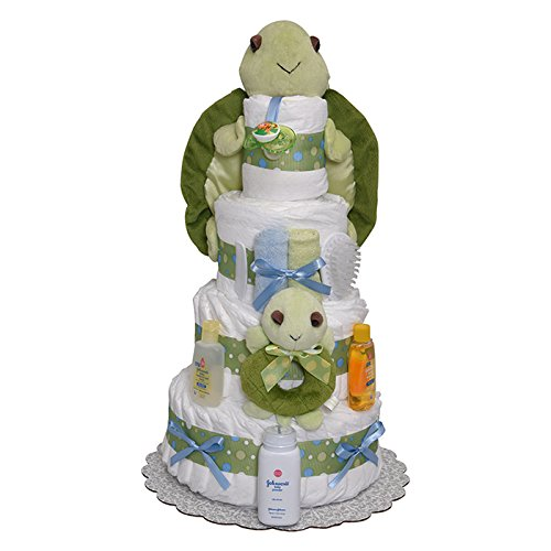 Mr Turtle Diaper Cake 4 Tiers