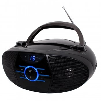 Jensen Cd-560 Wireless Bluetooth Boombox Portable Cd Player Am/Fm Radio Stereo Speaker System With Aux Input (Cd560 Black)