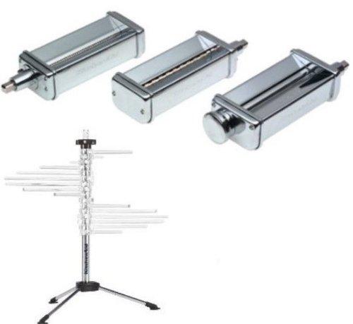 Kitchenaid Kpra Pasta Roller Cutter Maker 3Pc Stand Mixer Attachment + Kpdr Rack front-468962