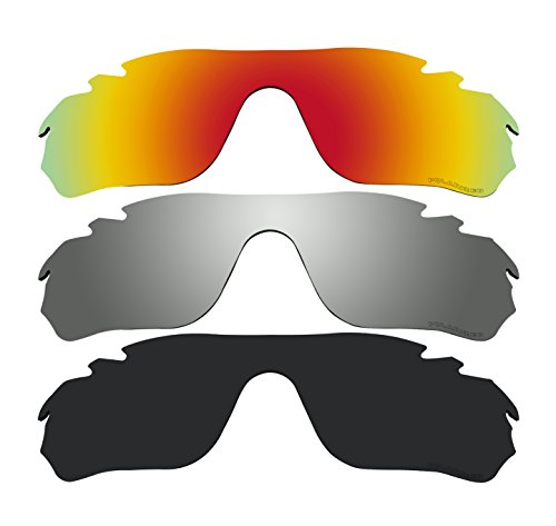 3 Pairs Polarized Replacement Lenses for Oakley RadarLock Edge Vented OO9183 Sunglasses (Radarlock Edge compare prices)