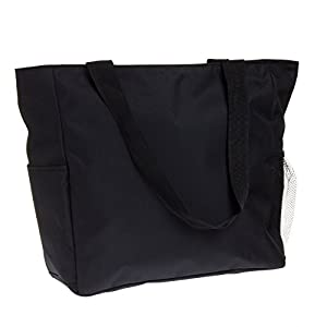 World Traveler Solid Black 18-inch Travel Tote Bag