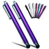 PM0503X2 First2savvv purple Touch screen stylus pen for iPhone 5C/5S 5 Apple iPad mini with retinal display iPad air AMAZON Kindle fire HD 16GB 8.9 & Iphone 4s & apple new ipad 3&apple iPhone 5&apple ipod touch 5th generation& ipad 4 with retina display & Samsung galaxy note 3 note PRO 10.1 & galaxy S4,galaxy S4 MINI, galaxy S4 Active, galaxy tab 3 & HTC one, one max,Desire 300,Desire 601 &Sony Xperia M, Sony Xperia Z Ultra Z1,E1,Z1 compact (PACK OF TWO)