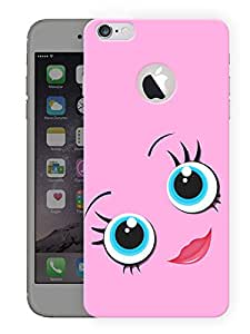 """Cute Pink Eyes Printed Designer Mobile Back Cover For """"Apple Iphone 6 - 6s"""" (3D, Matte, Premium Quality Snap On Case)"""