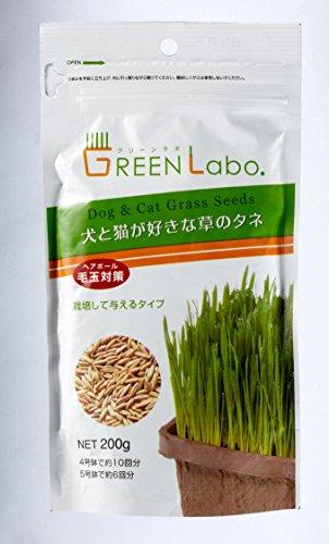 グリーンラボ 犬と猫が好きな草のタネ 200gX3個セット