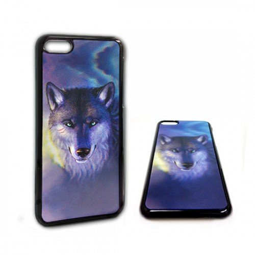 Fatboycell 3D Effect Design Hard Protector Case Cover For Apple Iphone 5/5S - Blue Wolf
