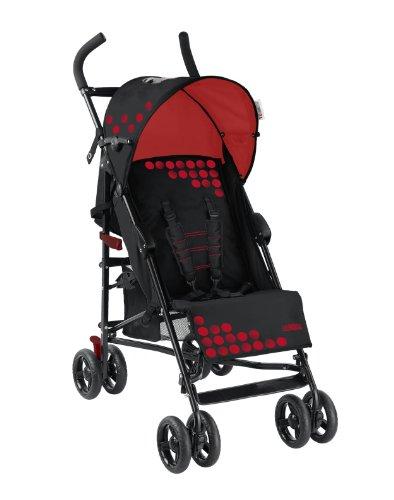 Mia Moda Facile Umbrella Stroller, Black/Red