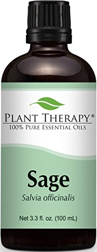 Sage Essential Oil. 100 ml (3.3 oz). 100% Pure, Undiluted, Therapeutic Grade.
