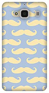The Racoon Lean printed designer hard back mobile phone case cover for Xiaomi Redmi 2 Prime. (Mustaches)