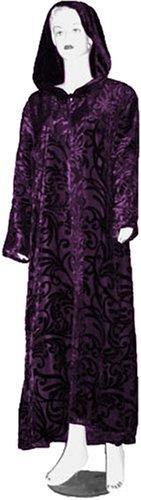 Purple Velvet Cloak with Burnout Swirls