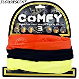 OXFORD COMFY HEAD & NECK WARMER TUBE 3 PACK - BLACK, YELLOW & ORANGE