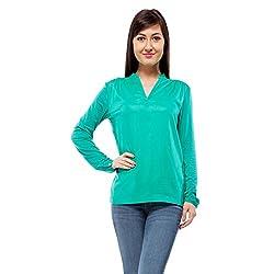 Orous Women's Body Blouse Shirt (Madame004_Sea Green_Small)