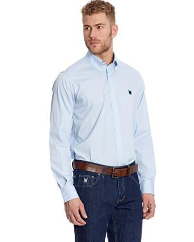 Polo Club Camicia Uomo Fitted Escudo [Blu]