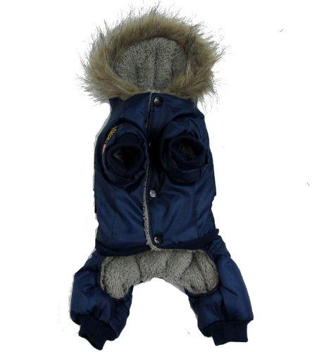 Pineocus Air Man Design Pet Dogs Winter Coat (Blue, Xl)