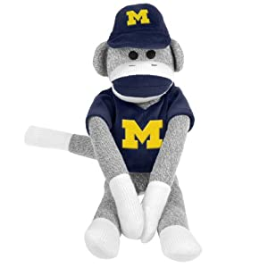 NCAA Michigan Uniform Sock Monkey at 'Sock Monkeys'