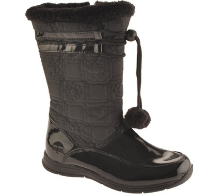 totes Girls' Laura Winter Snow Boots,Black,12 M US