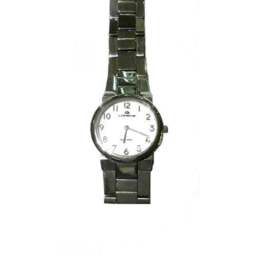 Reloj LORENZ Montenapoleone 024916al cuarzo (batería) acero quandrante blanco correa acero