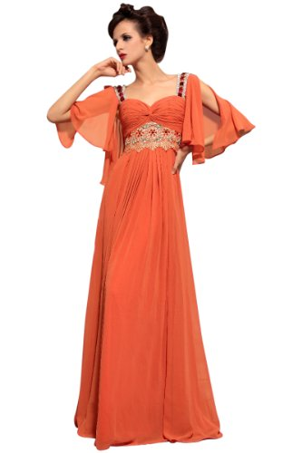 CharliesBridal Sweetheart Floor Length Formal Dress - XL - Coral