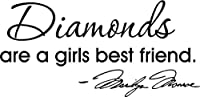 Diamonds are a girls best friend Marilyn Monroe wall quotes sayings vinyl decals art by Epic Designs