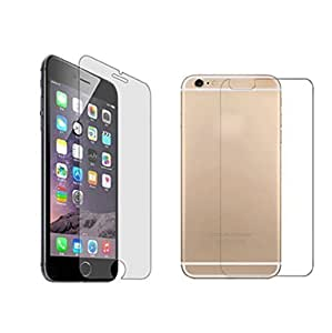 zZeonee 2.5D Curved Edge Crystal Clear, 9H Hardness Tempered Glass Screen Protector For Apple Iphone 6 Plus (FRONT AND BACK)