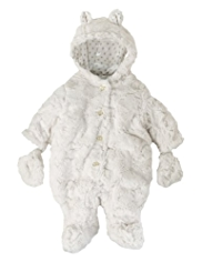 Faux Fur Snowsuit with Mittens