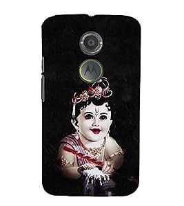 EPICCASE Baby krishna god Mobile Back Case Cover For Moto X 2nd Gen (Designer Case)