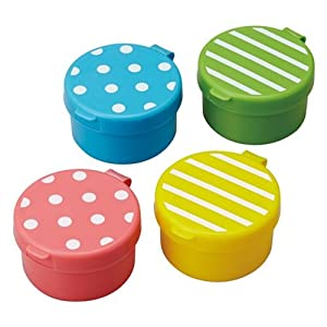 dot stripe mini sauce containers for bento box lunch box servin. Black Bedroom Furniture Sets. Home Design Ideas