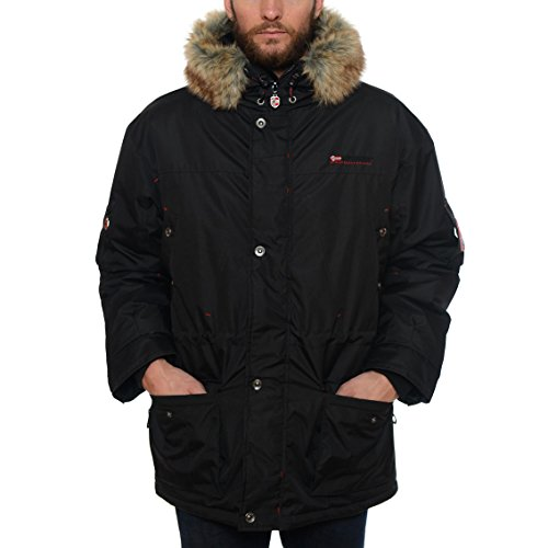 Geographical Norway ATLAS 1 MEN Schwarz Herren Parka Jacke Neu